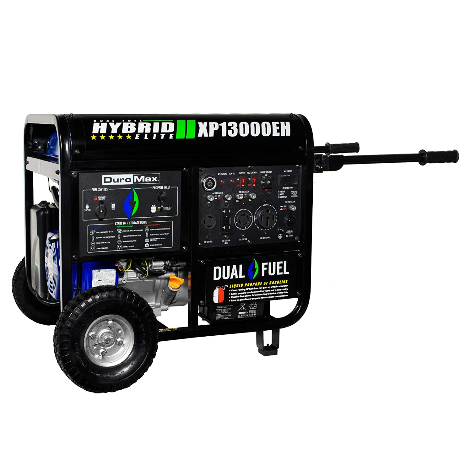 Amazon.com : DuroMax XP13000EH 13000 Watt Portable Hybrid Gas Propane Generator : Garden & Outdoor