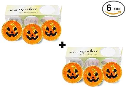 Amazon.com : Golf Balls- Halloween Pumpkin Metallic COMBO (2 PACK ...
