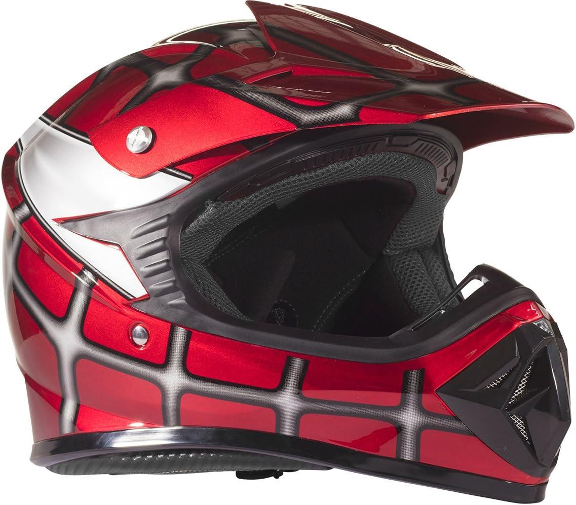 Small Typhoon Youth Kids Offroad Gear Combo Helmet Gloves Goggles DOT Motocross ATV Dirt Bike MX Motorcycle Blue Black
