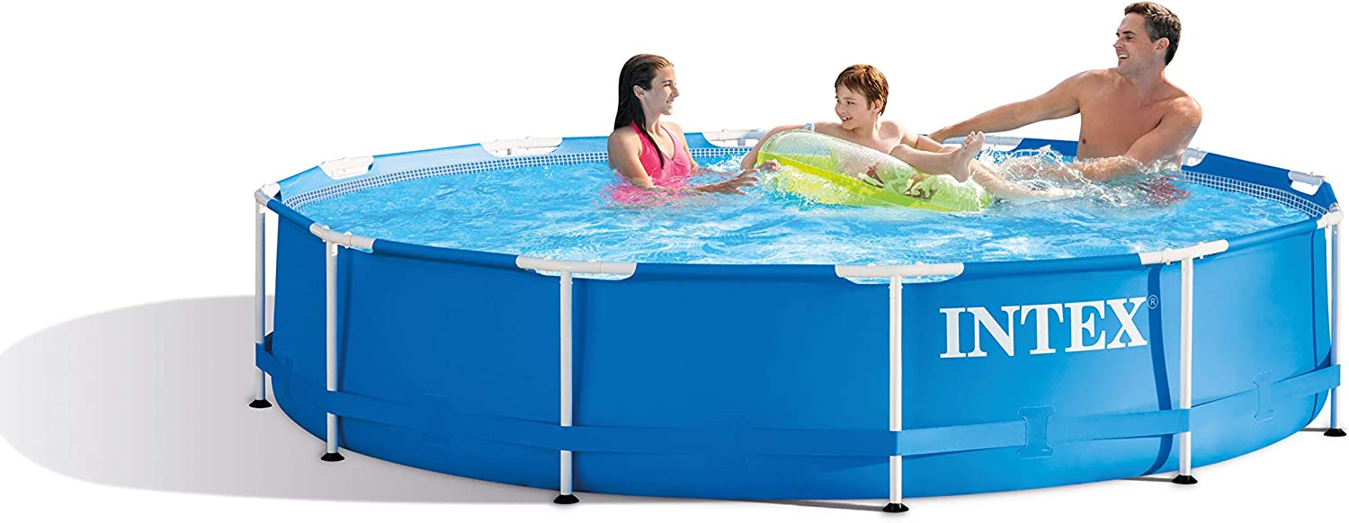 INTEX Piscina elevada Metal Frame - 6503 litros, 366 x 76 cm: Amazon.es: Jardín