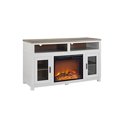 Amazon Com Ameriwood Home Carver Electric Fireplace Tv Stand For