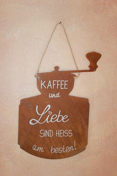 BADEKO Cartel café Incl. Inscripción, Pizarra de Metal ...