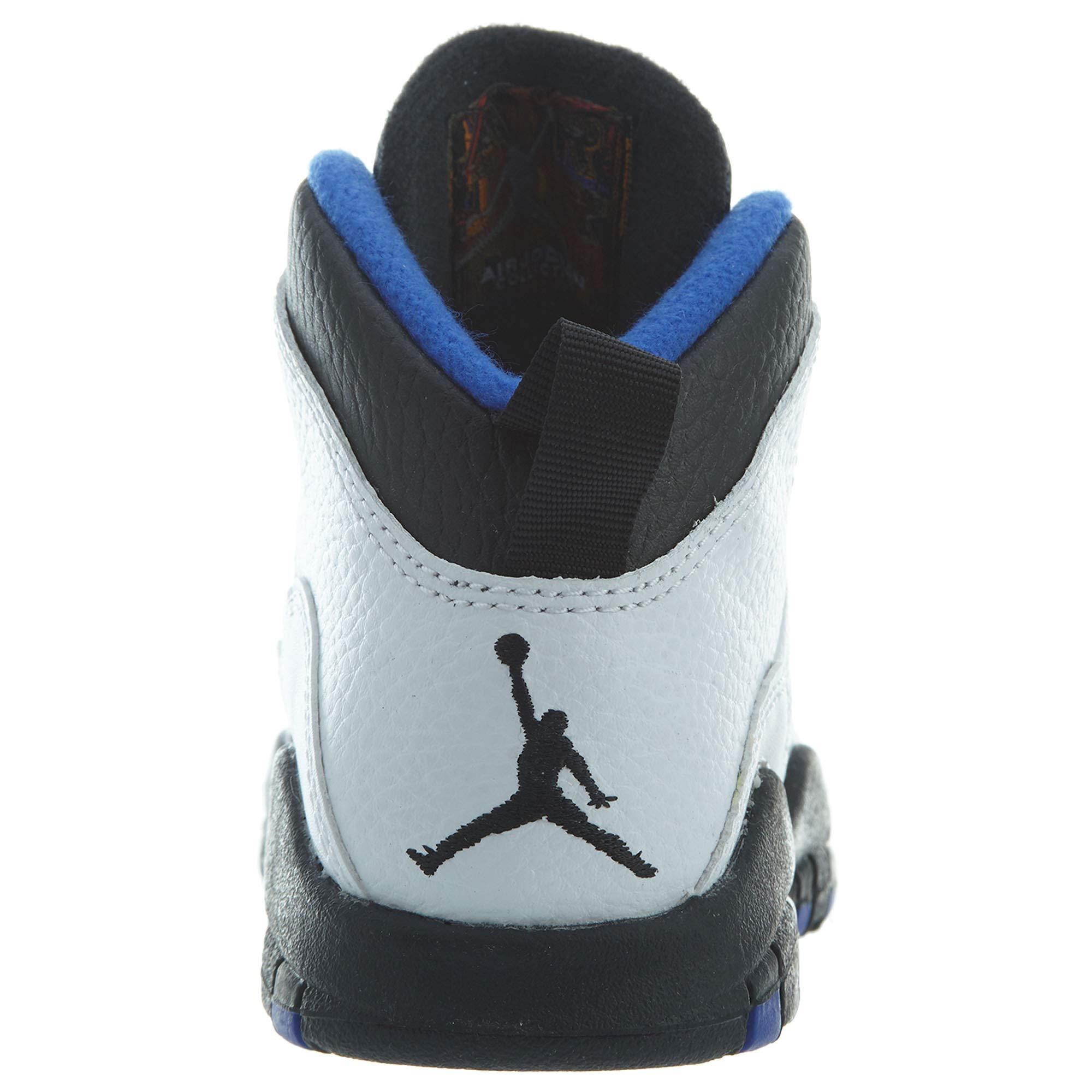 Jordan Air Retro 10''Orlando White/Black-Royal Blue (PS) (13 M US Little Kid) by Jordan (Image #4)