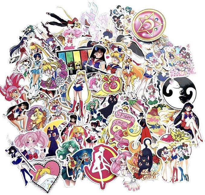 skateboard Anime Decals pour voiture Autocollant SGOT Jojos One Piece Stickers bagages /étanche Vinyle Demon Slayer Stickers moto ordinateur portable 100 pi/èces Hayao Miyazaki.