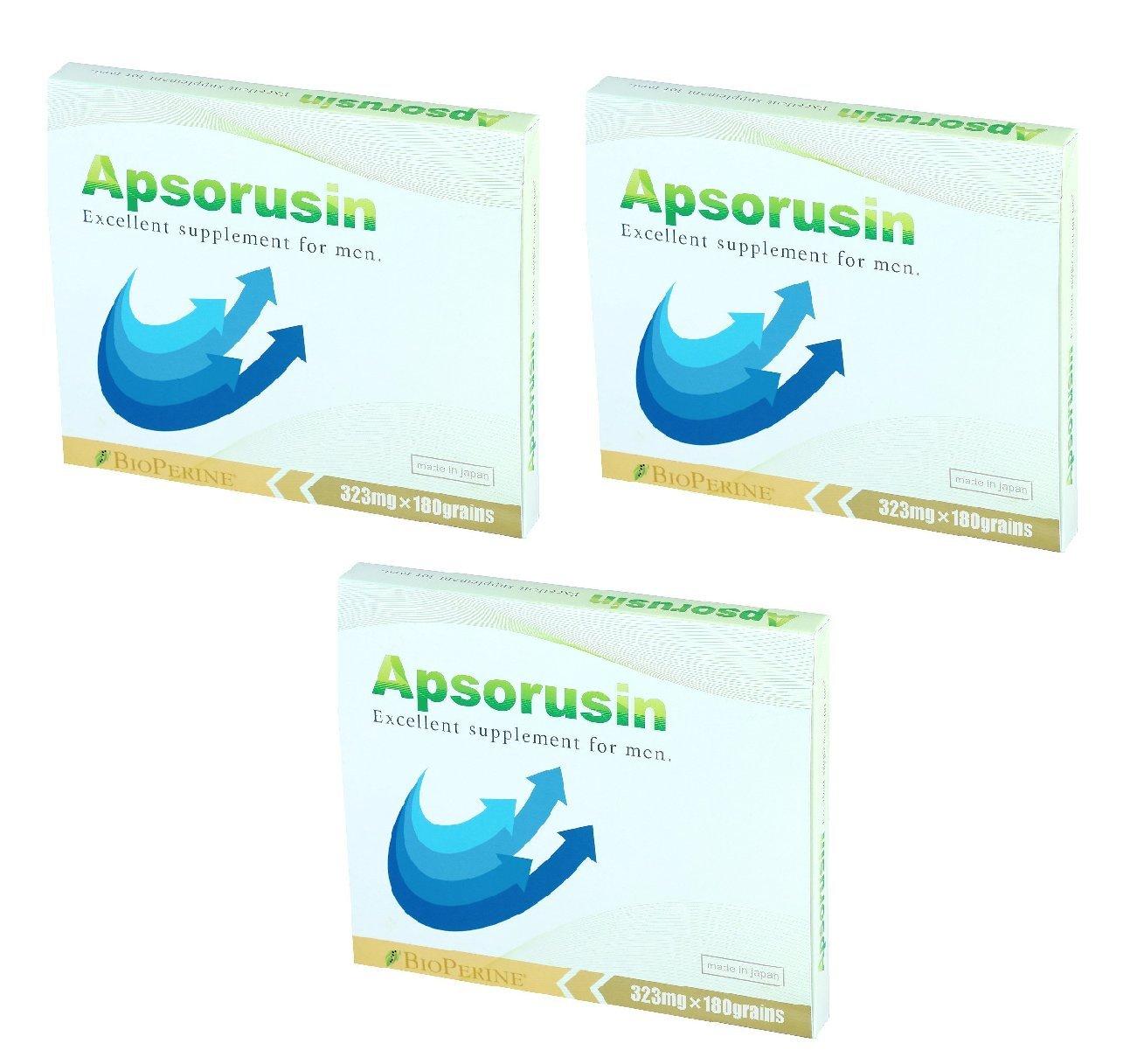 【公式】 男性用 サプリメント アプソルシン3箱セット/540粒入り シトルリン アルギニン 亜鉛 男性の増大サプリメント B07DCJMW5W