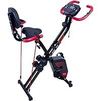 EVOLAND Bicicleta Estática Plegable, Bicicleta Estática de Fitness Multinivel de Resistencia Magnética con Monitor Rítmo…