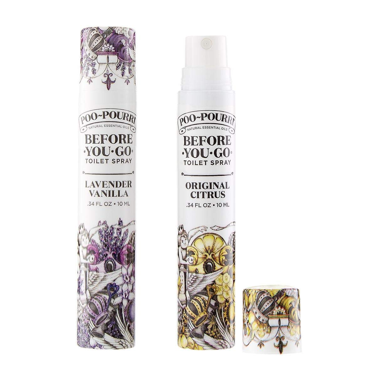 Poo-Pourri Travel Size 10mL - (2) Original Scent, (2) Lavender Vanilla Scent and Tropical Hibiscus 1.4 Ounce Bottle with Bottle Tag Included by Poo-Pourri (Image #6)