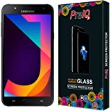 PraIQ Samsung Galaxy J7 Nxt Premium Tempered Glass Screen Protected With Round Edges and Cleaning Clothes