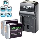 Baxxtar Razer 600 Ladegerät 5in1 / 2X Patona Premium Akku für - Canon NB-13L - zu Canon PowerShot SX620 SX720 SX730 SX740 (USB Ausgang)