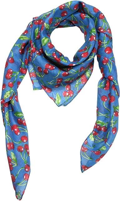 Freak Scene Pañuelo de algodón ° Cerezas - azul ° Pañuelo cuadrado ...
