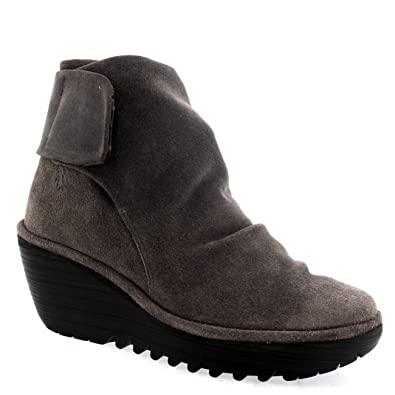 Womens Fly London Yegi Winter Suede Fashion Casual Wedge Heel Ankle Boot