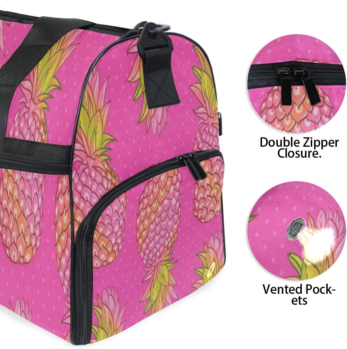 Pineapple Creative Gym Bags for Men/&Women Duffel Bag Casual Fashion Bag with Shoe Compartment