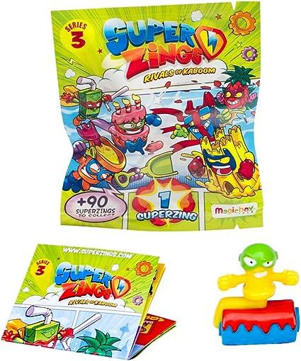 SUPERZINGS Serie 3 Caja con 50 Figuras + Estación De Policía, con 2 exclusivas Figuras: Amazon.es: Juguetes y juegos