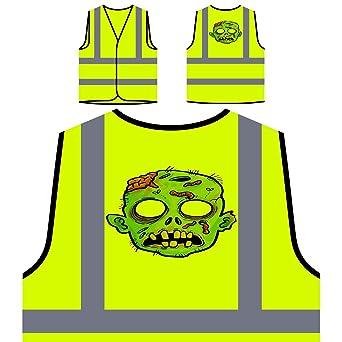 Divertida Máscara De Bruja De Miedo Chaqueta de seguridad amarillo personalizado de alta visibilidad r575v