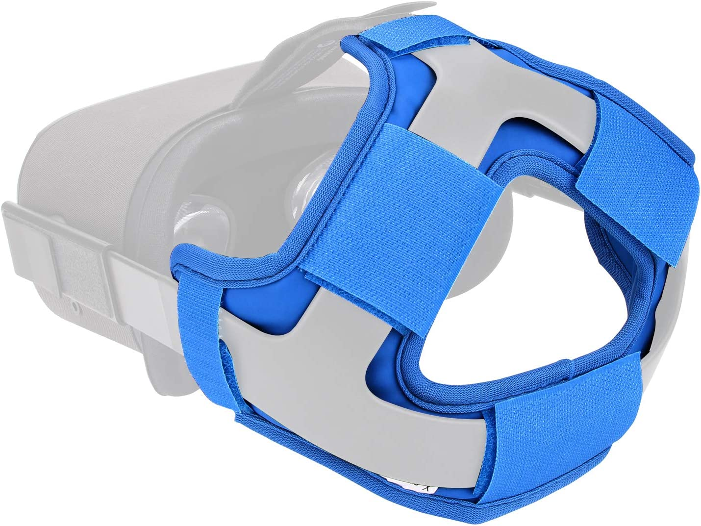 Head Strap Foam Pad for Oculus Quest - by X-super Home 2020 Pro Version VR Cover Acessories More Thick & Soft Headband Reduce Head Pressure (Blue, Head Strap Pad)