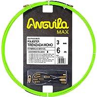 ANGUILA MAX 75330006 Guía pasacables Especial Tubos Estrechos Poliéster Trenzada Monofilamento 3mm 6 Metros y terminales…