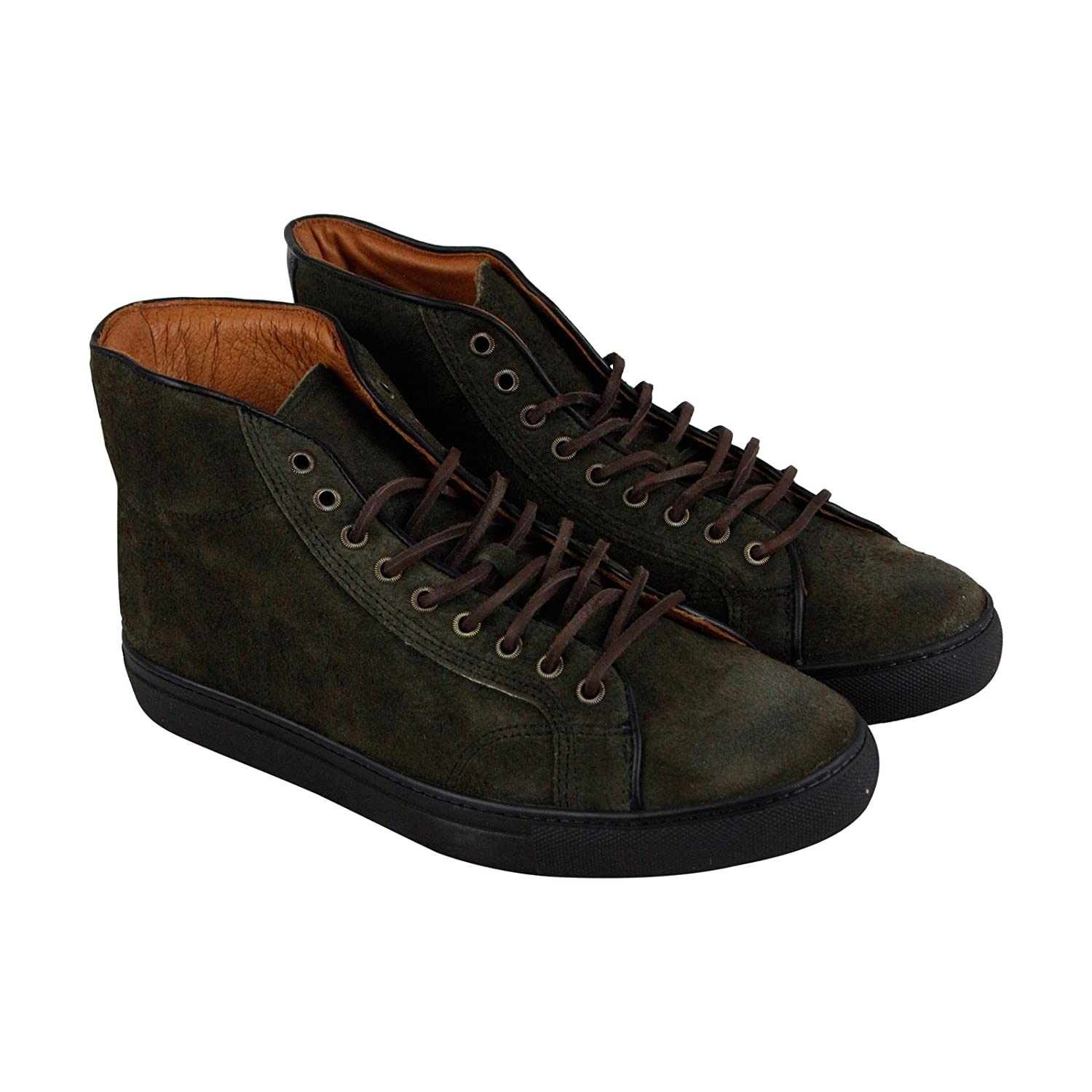 FRYE Men's Walker Midlace Tennis Shoe B01MYZ4J3C 12 D(M) US|Fatique Waxed Suede