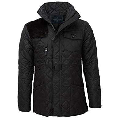 057e77ec2f1e James Darby Mens Slim Fit Diamond Quilted Jacket at Amazon Men s ...
