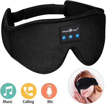 DAGE Wireless Stereo Speakers Microphone Earphone Sleeping Eye Mask Music Multi-fuctional Headset