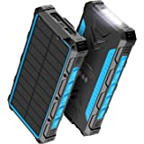 Solar Power Bank 30000mAh Power Bank, Solar Charger,Portable Charger, Outputs 5V/3A High-Speed & 2 Inputs Huge Capacity Phone