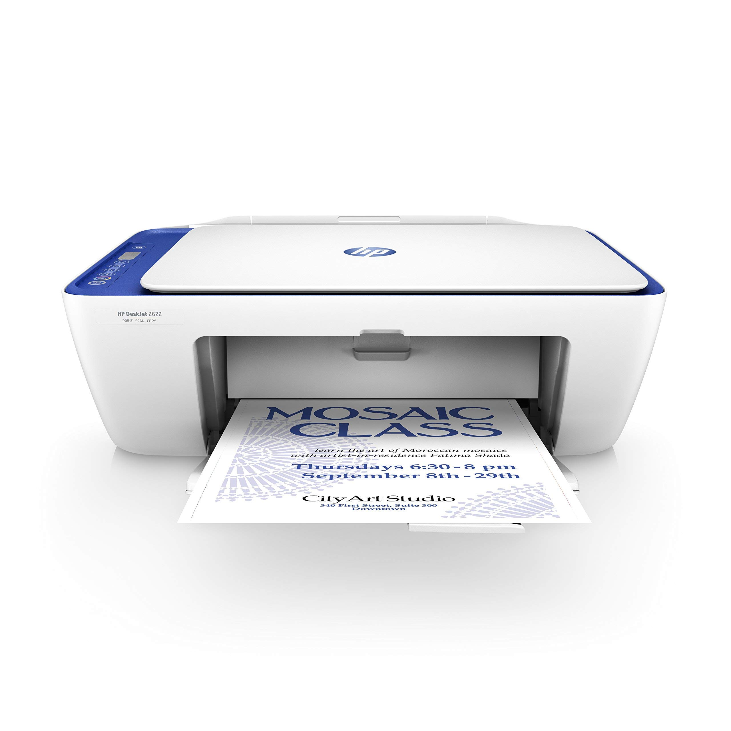 HP DeskJet 2622 All-in-One Compact Printer (Blue) (V1N07A) (Renewed) by HP