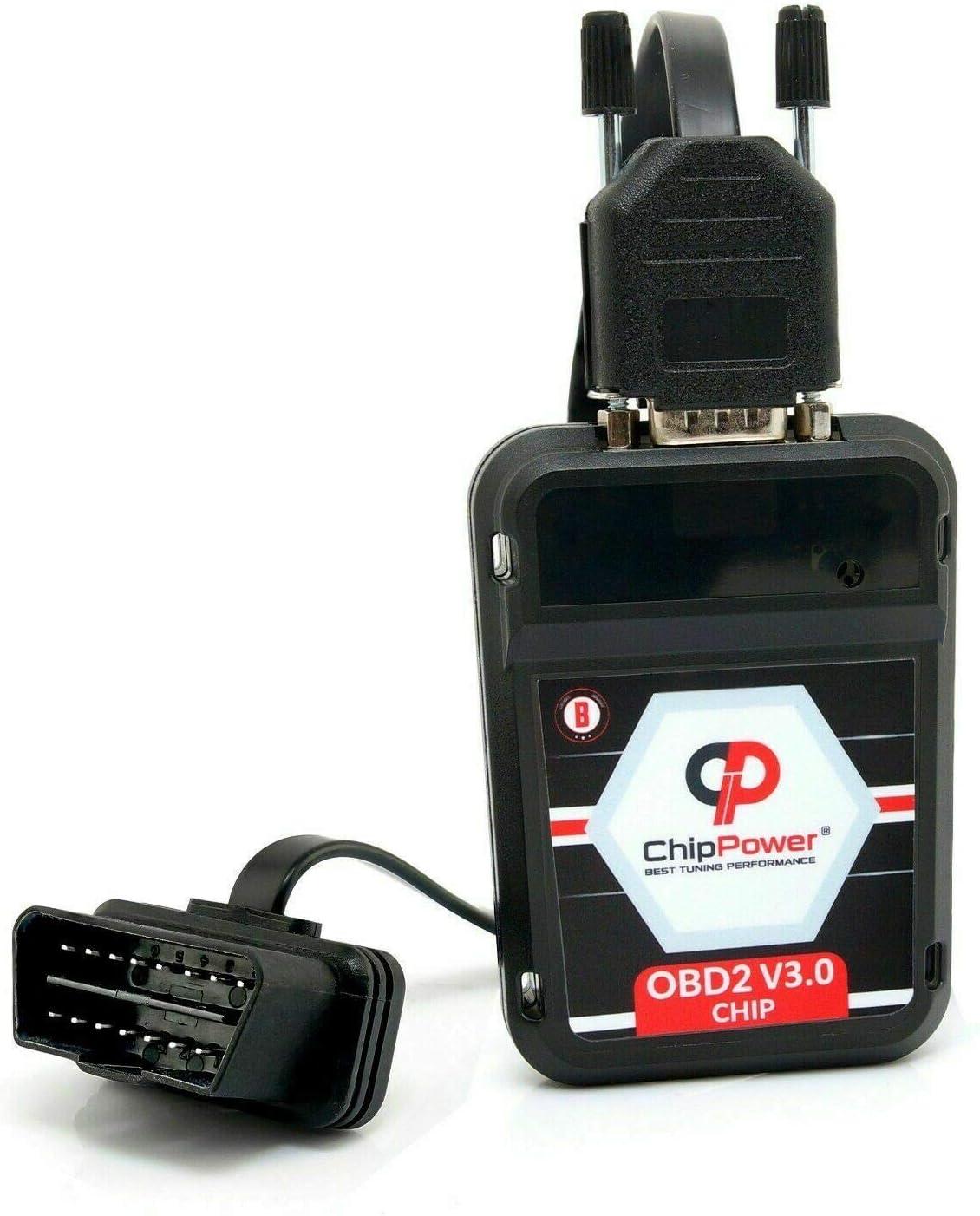 ChipPower Chiptuning OBD2 v3 f/ür Astra H 1.6 77 kW 105 PS 2004-2011 Chip Box Mehr Leistung Benzin