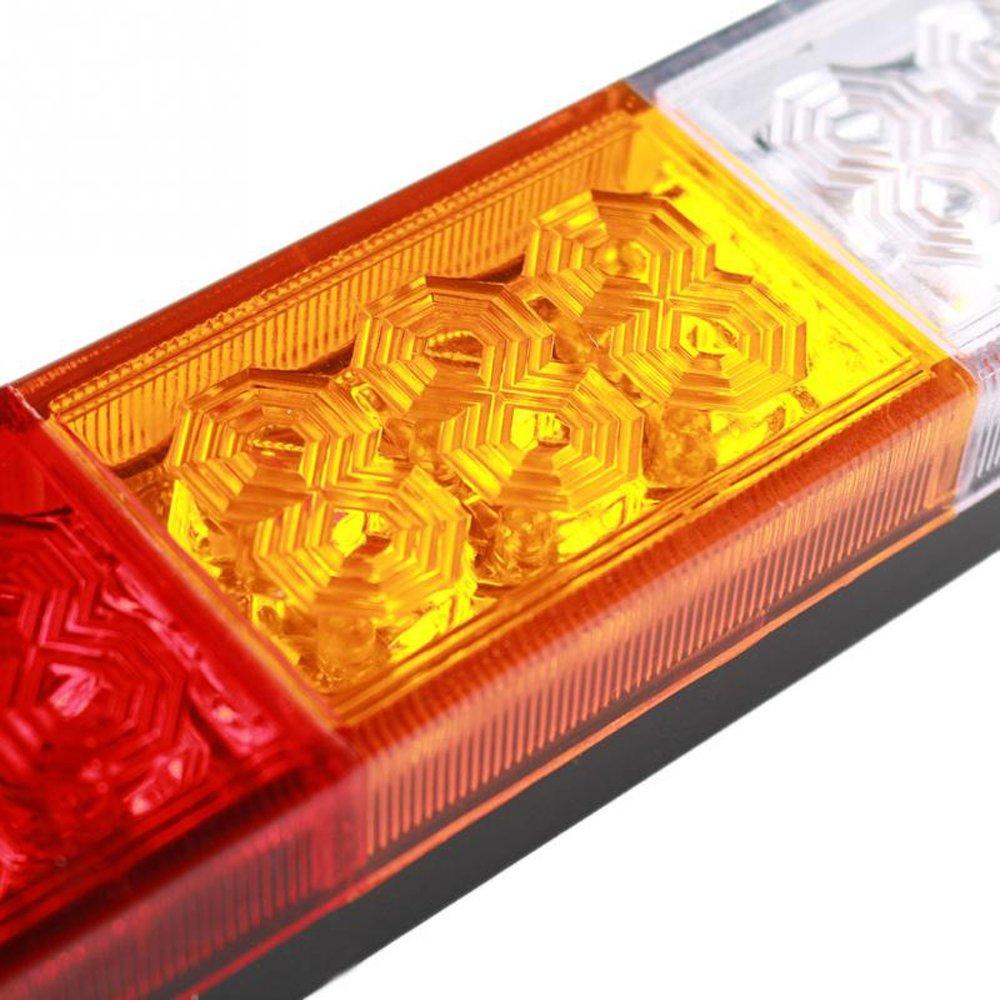 haichen 2pcs 12/V 20LEDs cola luces a su vez se/ñal inversa Luz de freno para coche cami/ón remolque