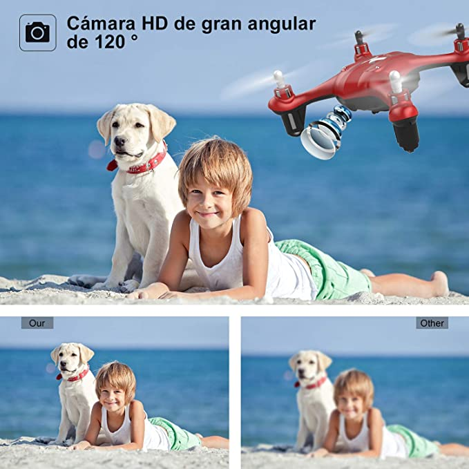 ATOYX Mini Drone para Niños con Cámara, AT-96 RC Quadcopter con ...