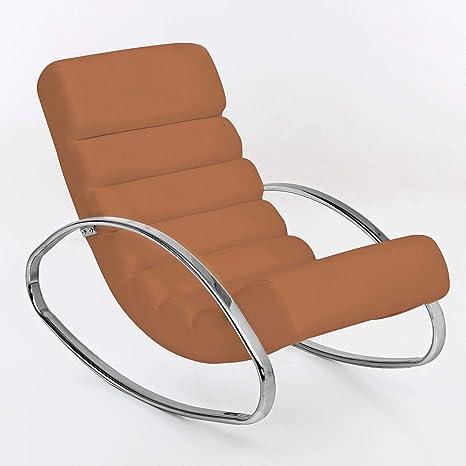 Wohnling Relaxliege Sessel Kunstleder Fernsehsessel Farbe Braun Relaxsessel Design Schaukelstuhl Wippstuhl Modern Metallrahmen Wohnzimmer Armlehnen Amazon De Kuche Haushalt