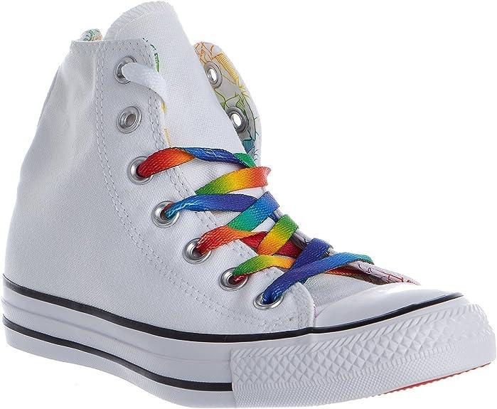 Converse Chuck Taylor All Star High Pride Core Rainbow White