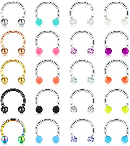 16g U Shape Septum Retainer Curved Ends-16 gauge Septum Ring Piercing Body Jewelry Retainer Flip Up