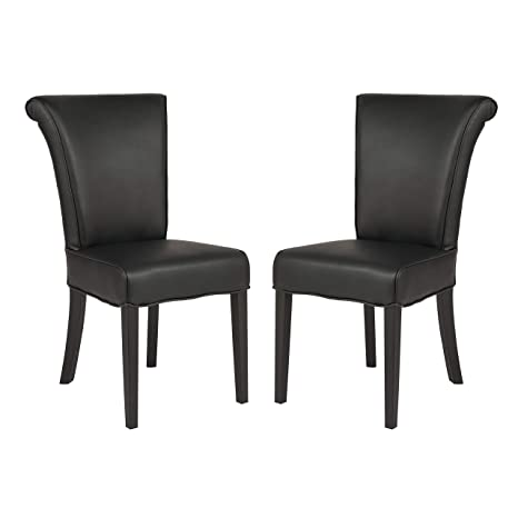 Image Unavailable Image Not Available For Color Leisuremod Eden Contemporary Black Faux Leather Dining Chair