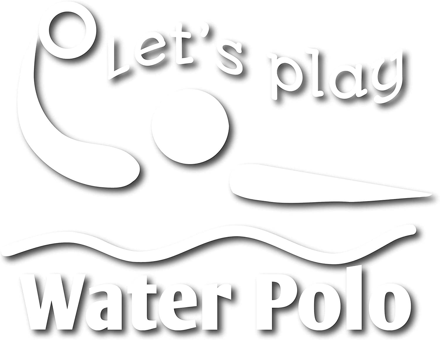 "4 All Times Let's Play Water Polo Automotive Car Decal for Cars, Trucks, Laptops (5.0"" W x 3.8"" H)"