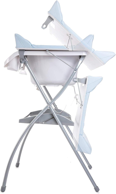 Azul ba/ño para bebes Zippy Ba/ñera alta Spalsh ZY Baby asiento anat/ómico compacta con cambiador