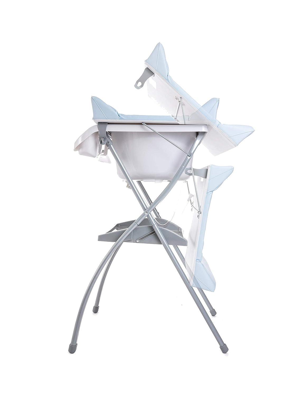 ba/ño para bebes compacta con cambiador asiento anat/ómico Azul Ba/ñera alta Spalsh ZY Baby Zippy