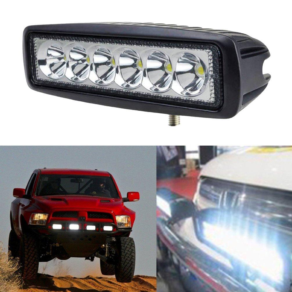 Annisking 12x18w Flood Beam 60 Degree LED Work Light Fog Light Jeep SUV ATV Off-road Truck