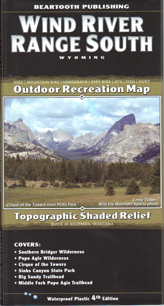 Wind River Mountains Topographic Map - Southern Half