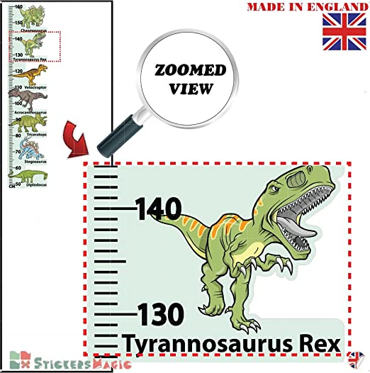 Stickersmagic Dinosaur Height Chart Wall Sticker Kids Room