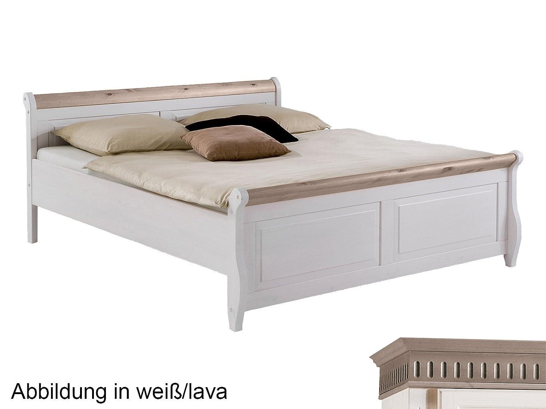 Bett Einzelbett Doppelbett Ehebett Massivholzbett Jugendbett Silvana ...
