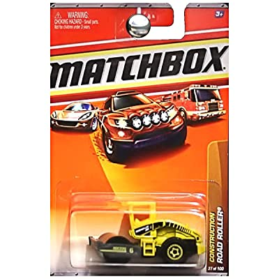 Matchbox Road Roller Yellow Construction Series (#1 of 14) 2010 Basic Die-Cast Vehicle (#37 of 100): Toys & Games