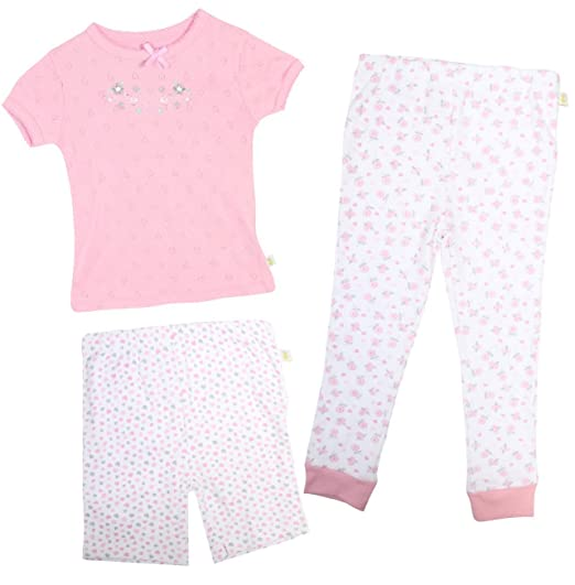 741202b3f663 Amazon.com  Duck Duck Goose Infant   Toddler Girls 3-Piece Snug-Fit ...