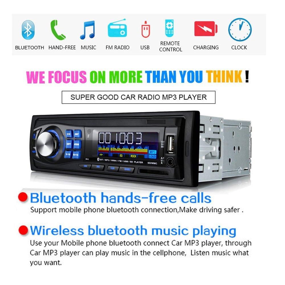 Amazon.com: Regetek Car Radio Audio Stereo Receiver Bluetooth ...