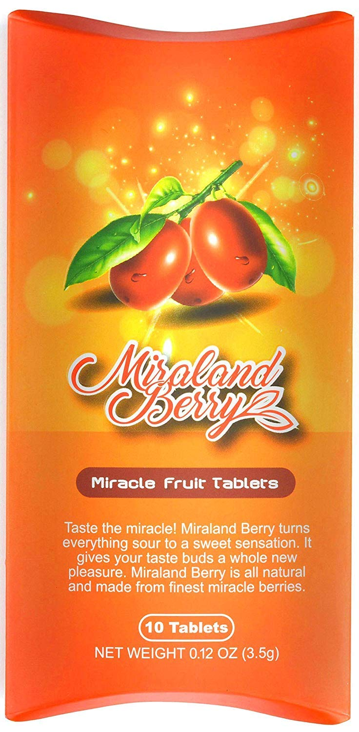 MiralandBerry Miracle Fruit Tablets, Miracle Berry Tablets, 10 Count, Turns Sour Foods to Sweet, 0.12 Ounce (Pack of 1) by MIRALAND BERRY