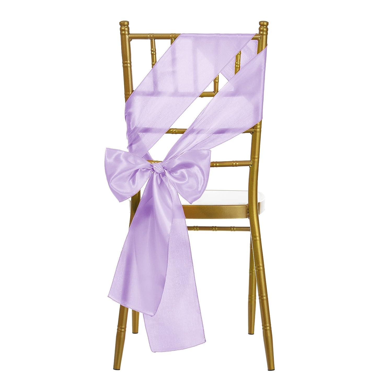Amazon Remedios 10 Pieces 6x108 inch Satin Chair Sash Cover Bow