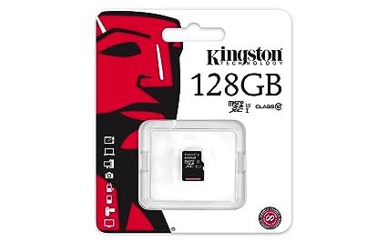 Kingston SDCX10/128GBSP - Tarjeta microSD de 128 GB (Clase 10, UHS-I), Negro