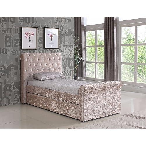 Single Crushed Velvet Bed Amazon Co Uk