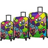 Mia Toro ITALY M by Mia Toro-Butterflies Hardside Spinner Luggage 3 Piece set