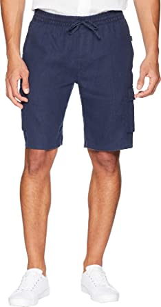 89c01cec47 Onia Men's Tom Cargo Linen Shorts Deep Navy Medium 9.5 | Amazon.com