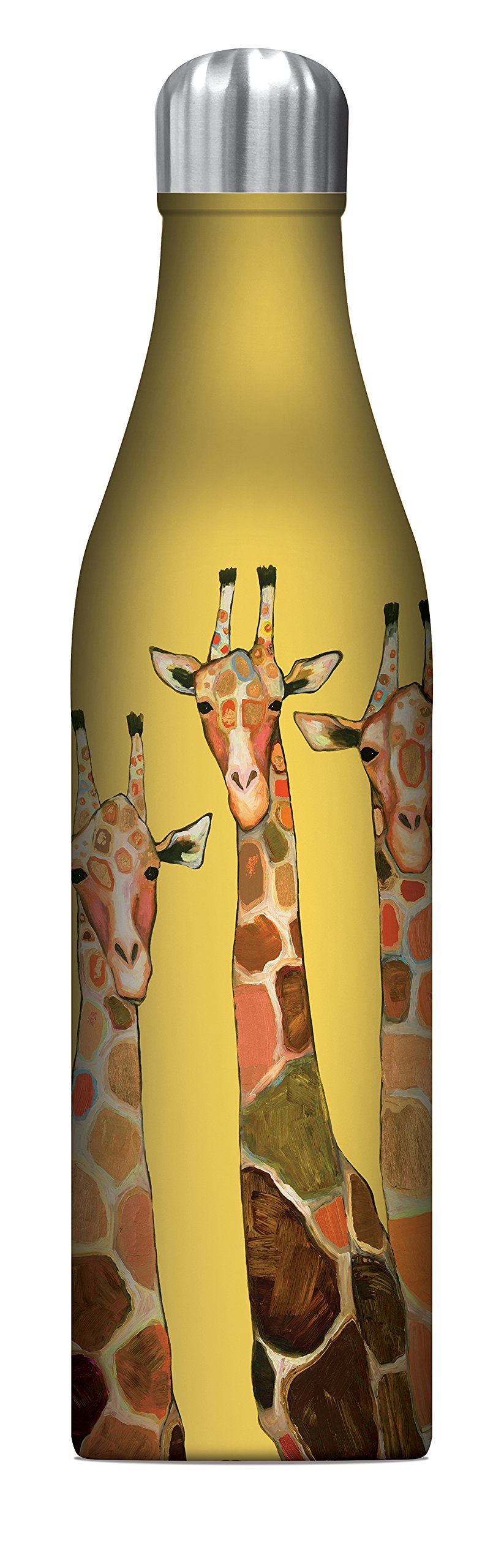 Studio Oh! 25 oz. Insulated Stainless Steel Water Bottle Available in 8 Different Designs, Eli Halpin Giraffe