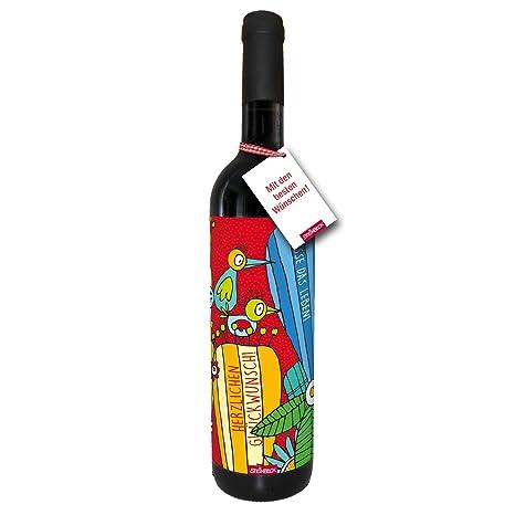 Wein Herzlichen Gluckwunsch Trockener Rotwein Aus Spanien100